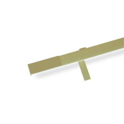 Κουρτινόξυλο αλουμινίου με σιδηρόδρομο χρυσό ματ OEM