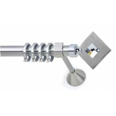 Inox Κουρτινόξυλο Ermis Metal με Swarovski Φ25 160cm