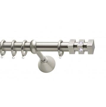 Μεταλλικό κουρτινόξυλο Viometale Anais Φ25  νίκελ ματ/strass