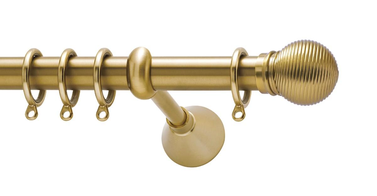 Μεταλλικό κουρτινόξυλο Viometale Bahamas Φ25 χρυσό ματ 160cm