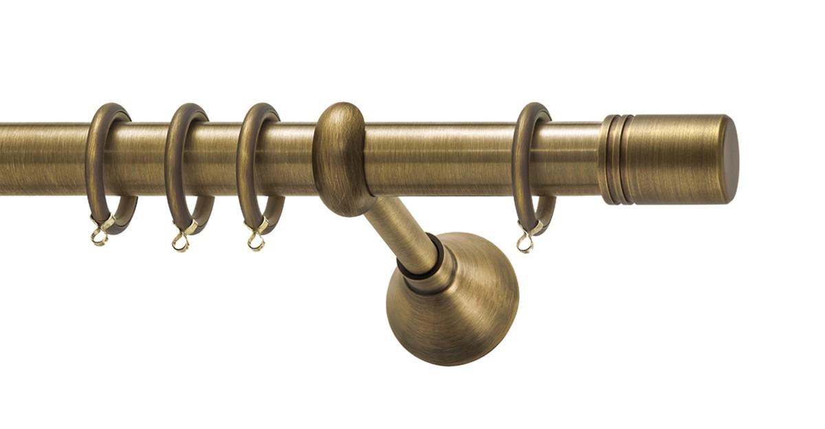 Μεταλλικό κουρτινόξυλο Viometale Italia Φ25 μπρονζέ 160cm