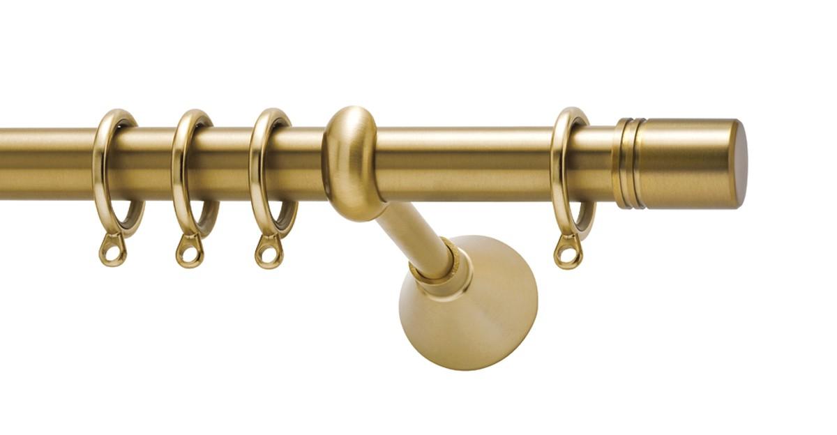 Μεταλλικό κουρτινόξυλο Viometale Italia Φ25 χρυσό ματ