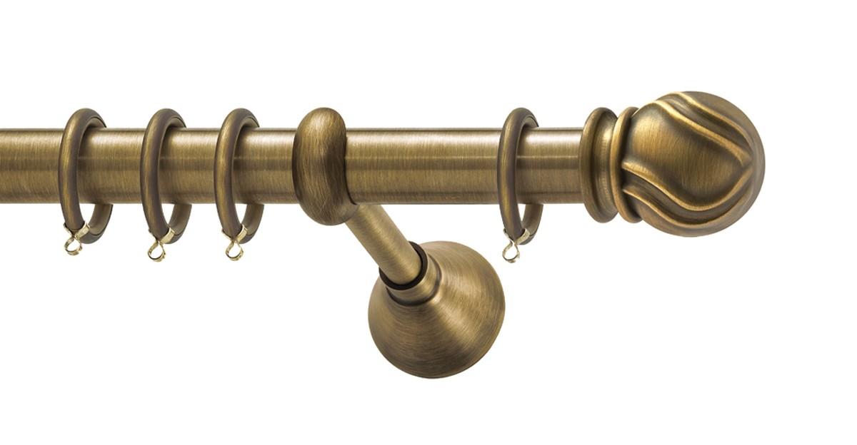 Μεταλλικό κουρτινόξυλο Viometale Jamaica Φ25 μπρονζέ 160cm