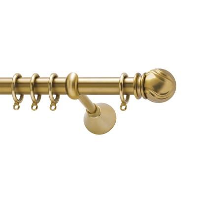 Μεταλλικό κουρτινόξυλο Viometale Jamaica Φ25 χρυσό ματ 160cm