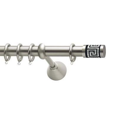 Μεταλλικό κουρτινόξυλο Viometale Meandros Φ25  νίκελ ματ