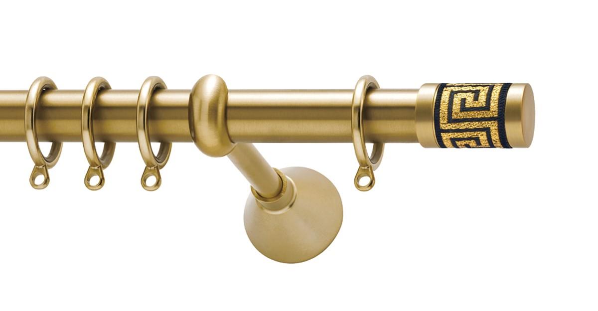 Μεταλλικό κουρτινόξυλο Viometale Meandros Φ25 χρυσό ματ 160cm