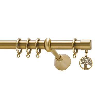 Μεταλλικό κουρτινόξυλο Viometale Tree of Life Φ25 χρυσό ματ 160cm