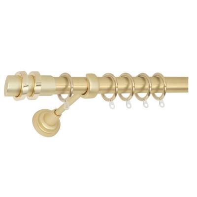 Μεταλλικό πτυσσόμενο κουρτινόξυλο Φ25 No4 χρυσό-χρυσό ματ 140-250