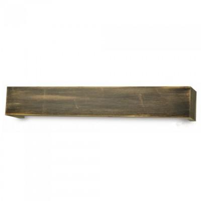 Κουρτινόξυλο μετόπη αλουμινίου Μαύρο Μπρονζέ Ριγέ 6986