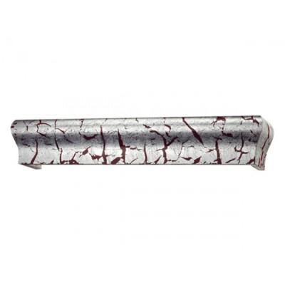 Κουρτινόξυλο μετόπη ξύλινη Domus 7056 ασημί-κόκκινο