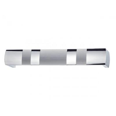 Κουρτινόξυλο μετόπη αλουμινίου Domus νίκελ ματ/χρώμιο 7121