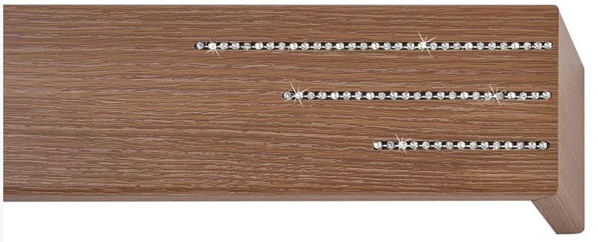 Κουρτινόξυλο μετόπη ξύλινη Viometale Andriana  Δρυς καφέ 336 Riviere