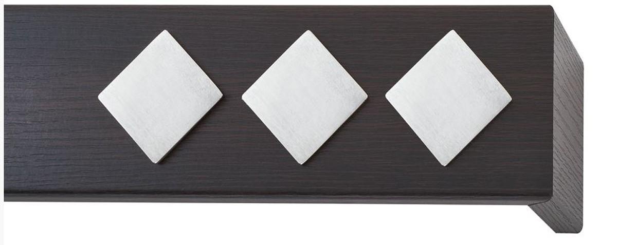 Κουρτινόξυλο μετόπη ξύλινη Viometale Andriana  Βέγκε 340 νίκελ/ματ τετράγωνο