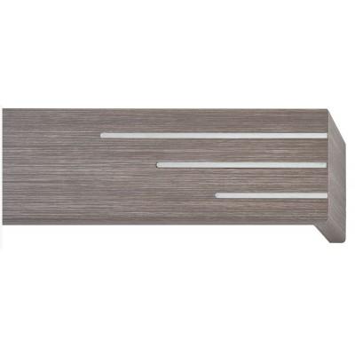 Κουρτινόξυλο μετόπη ξύλινη Viometale Andriana  Δρυς γκρι 505 νίκελ/ματ λαμάκι