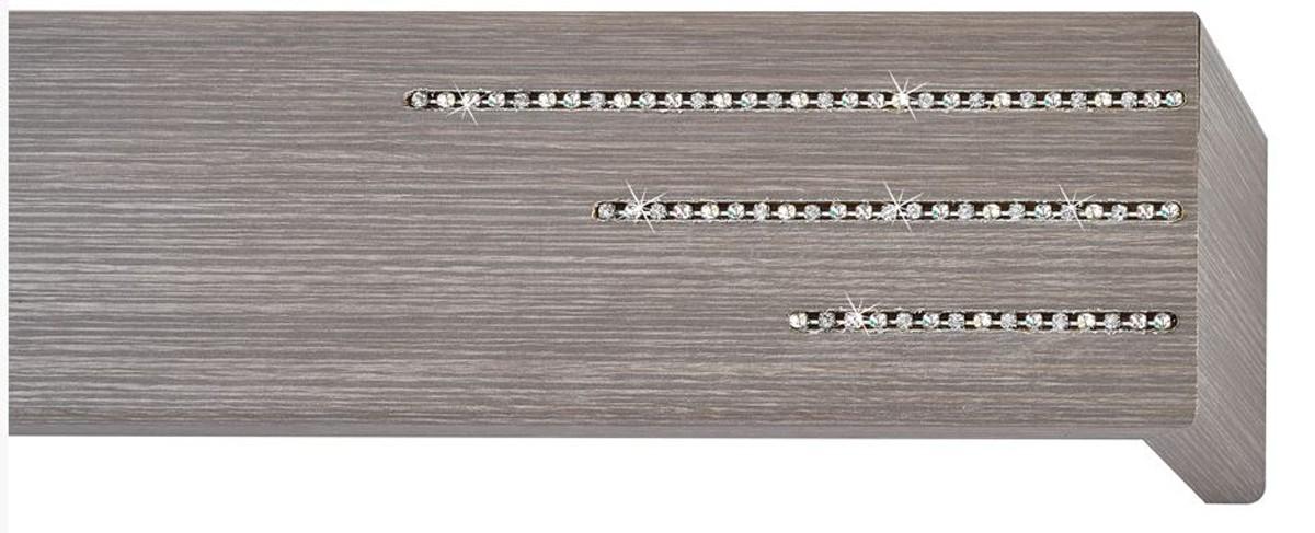Κουρτινόξυλο μετόπη ξύλινη Viometale Andriana  Δρυς γκρι 505 Riviere