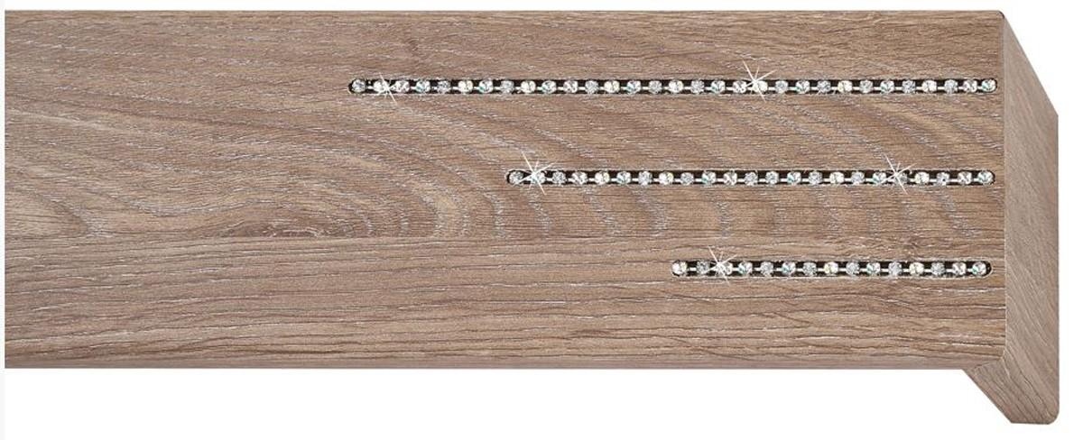 Κουρτινόξυλο μετόπη ξύλινη Viometale Andriana  Δρυς μόκα 615 Riviere