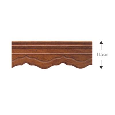 Κουρτινόξυλο μετόπη ξύλινη ΛΑΤΙΝΑ ΚΑΡΥΔΙ OEM
