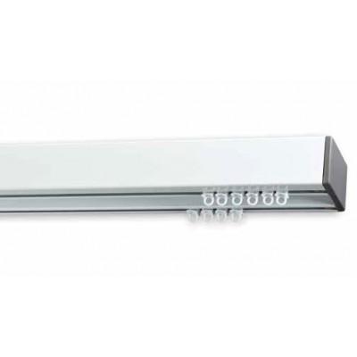 Σιδηρόδρομος αλουμινίου Anartisi Prisma Λευκός-Γκρι διπλός 160cm