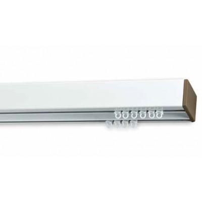 Σιδηρόδρομος αλουμινίου Anartisi Prisma Λευκός-Σαμπανιζέ διπλός 160cm