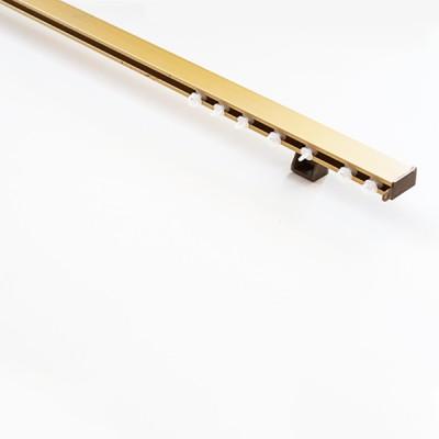 Σιδηρόδρομος αλουμινίου πλακέ μονός χρυσός OEM