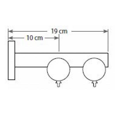Μεταλλικό Κουρτινόξυλο ILIOS S17 Double Φ25 160cm