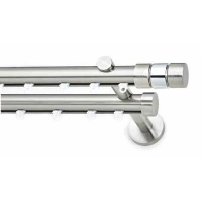 Μεταλλικό Κουρτινόξυλο ILIOS S1 Double Φ25 160cm