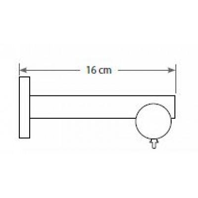 Μεταλλικό Κουρτινόξυλο ILIOS S1 Φ25 160cm