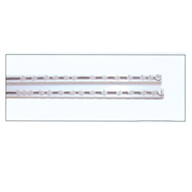 Σιδηρόδρομος αλουμινίου διπλός Δανίας Λευκός OEM 4,5cm