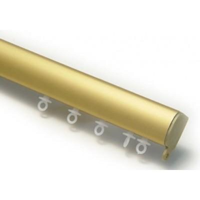 Σιδηρόδρομος αλουμινίου οβάλ μονός χρυσός OEM