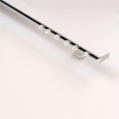 Σιδηρόδρομος αλουμινίου πλακέ μονός λευκός OEM