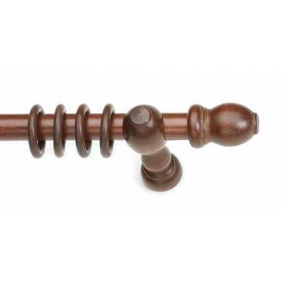 Κουρτινόξυλο ξύλινο στρογγυλό Καρυδί Φ28