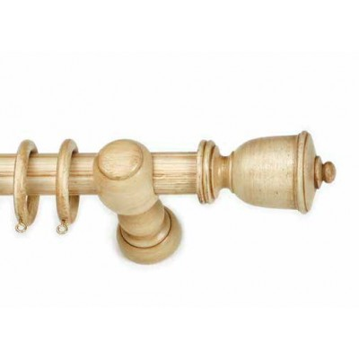 Κουρτινόξυλο ξύλινο στρογγυλό Trulo Avorio Φ35