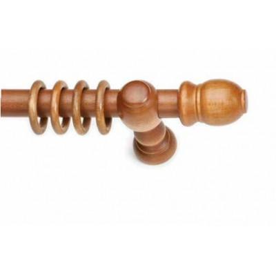 Κουρτινόξυλο ξύλινο στρογγυλό Μελί Φ35