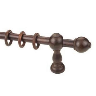 Κουρτινόξυλο ξύλινο στρογγυλό καρυδί Φ23 OEM