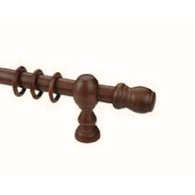 Κουρτινόξυλο ξύλινο στρογγυλό καρυδί Φ35 OEM