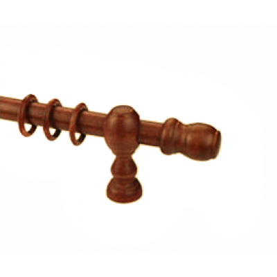 Κουρτινόξυλο ξύλινο στρογγυλό κερασιά  Φ35 OEM