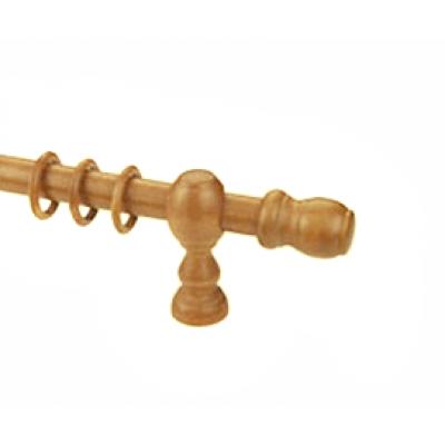 Κουρτινόξυλο ξύλινο στρογγυλό μελί Φ35 OEM