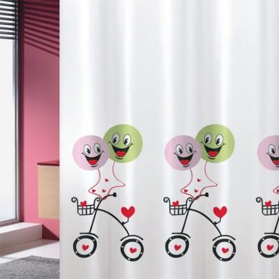 Κουρτίνα μπάνιου υφασμάτινη JOY Balloons 180x200