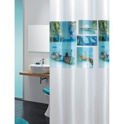 Κουρτίνα μπάνιου πλαστική PEVA JOY Beach 180x200