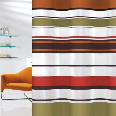 Κουρτίνα μπάνιου υφασμάτινη JOY Brick Lines 180x200