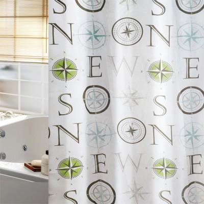 Κουρτίνα μπάνιου υφασμάτινη  JOY Compass 180x200