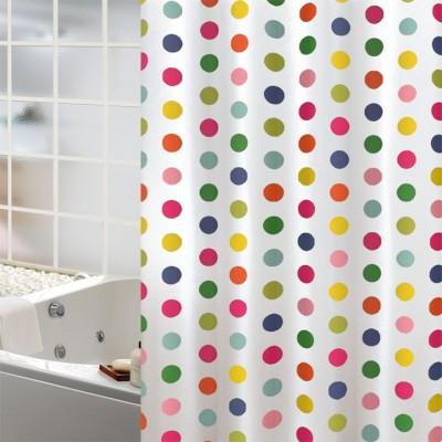 Κουρτίνα μπάνιου υφασμάτινη JOY Dots 180x200