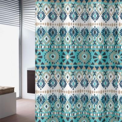 Κουρτίνα μπάνιου υφασμάτινη JOY Folk 180x200