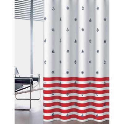 Κουρτίνα μπάνιου υφασμάτινη JOY Navy 180x200