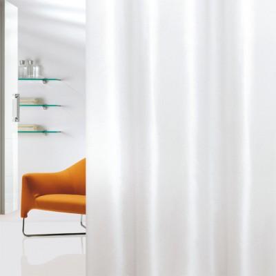 Κουρτίνα μπάνιου υφασμάτινη JOY Plain White 180x200