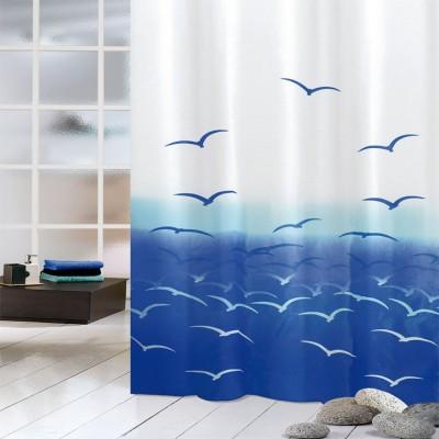 Κουρτίνα μπάνιου υφασμάτινη JOY Seaqulls 180x200