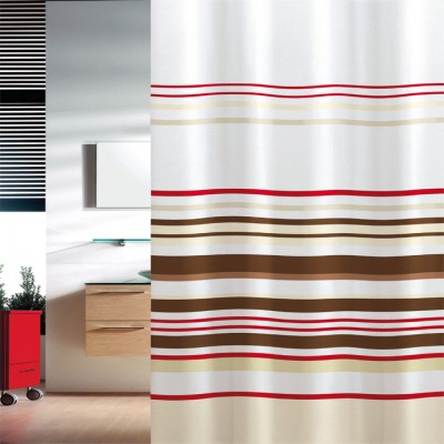 Κουρτίνα μπάνιου υφασμάτινη JOY Stripes 180x200