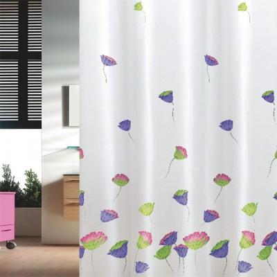 Κουρτίνα μπάνιου υφασμάτινη JOY Tulips 180x200 και 240x200