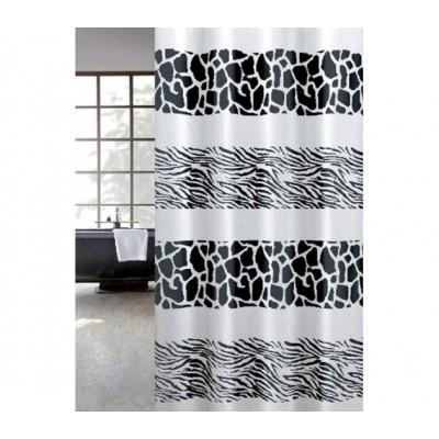 Κουρτίνα μπάνιου υφασμάτινη JOY Zebra 180x200