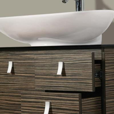 Έπιπλο μπάνιου Πηνελόπη-Pinelopi 70x56 Καφέ
